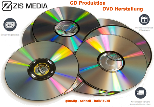 CD Produktion, DVD Produktion inkl. Verpackung & Authoring